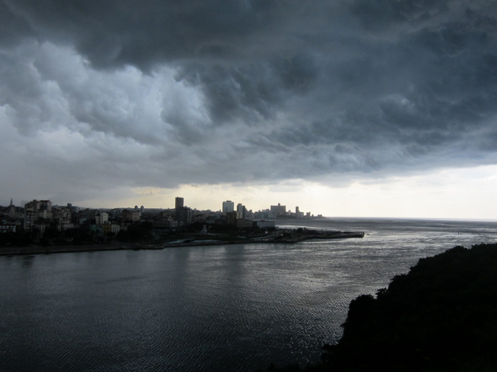 Storm over Havana. We were on the opposite side of the bay and seeing this was a special treat.
