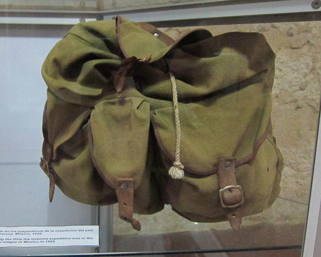 This is the actual bag that Che used in one of his operations.