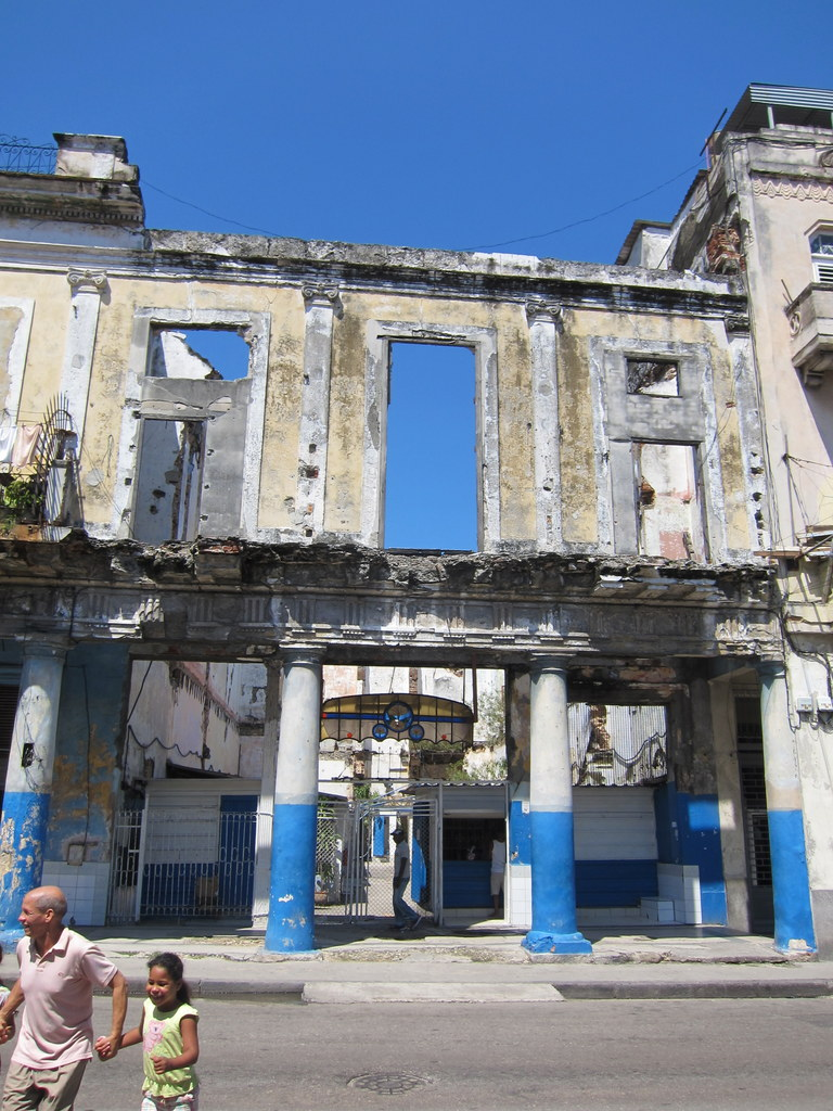 Everything in Cuba is falling to pieces. Building collapse frequently, and there is almost no work being done to fix the rot.
